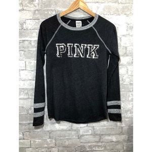 PINK Victoria's Secret Sequin Bling long sleeve